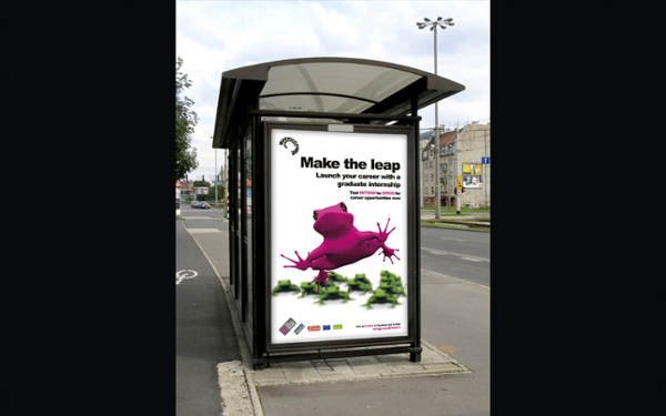 Copy writing, concept creation and ad placement for 6 sheet poster advertising for bus shelter.
